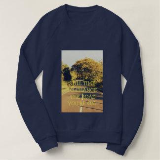 Motivational Navy women's sweatshirt