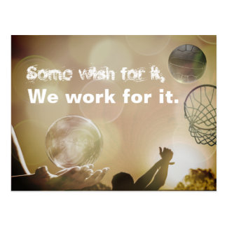 Motivational Netball Picture Quote Postcard