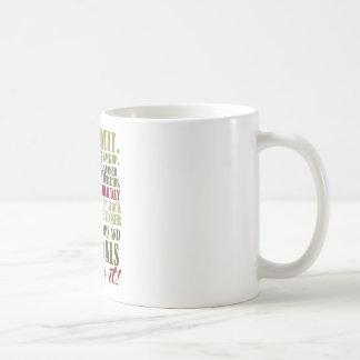 Motivational: Never Quit Basic White Mug