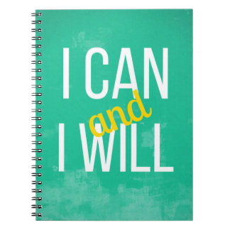 Motivational Notebook: I Can and I Will Notebook