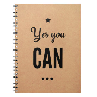 Motivational Notebook: Yes You Can Notebooks