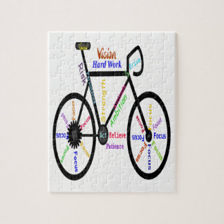 Motivational or Inspirational Bike Words Jigsaw Puzzle