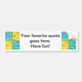 Motivational Phrases Typography - Collage Bumper Sticker