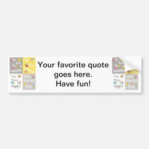 Motivational Phrases Typography - Collage Bumper Stickers