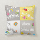Motivational Phrases Typography - Collage Cushion