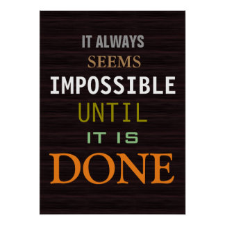 Motivational Possibility Quote Wood Pattern Poster