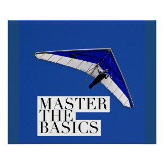 Motivational Poster - Master The Basics - Airplane