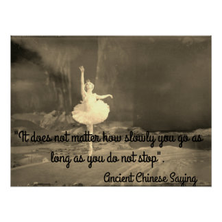 Motivational Poster with Ballerina
