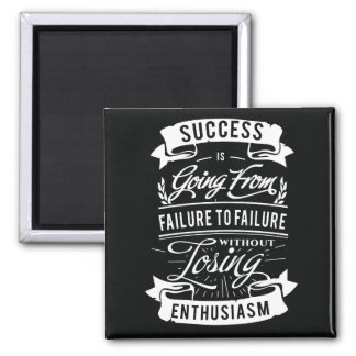 Motivational Quote about success magnet
