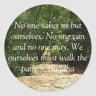 Motivational Quote Buddha inspirational Classic Round Sticker