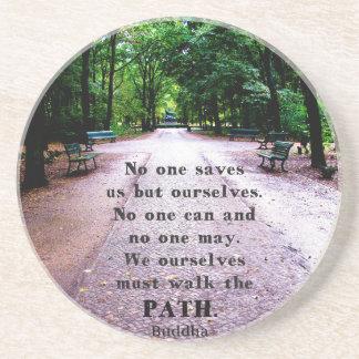 Motivational Quote Buddha inspirational Coaster