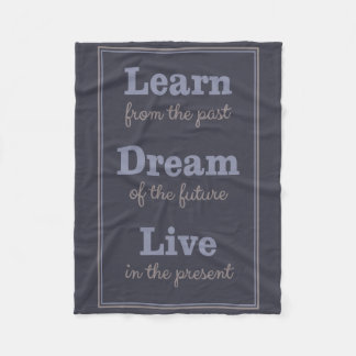 Motivational Quote fleece blankets