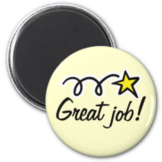 Motivational quote for thanking employees 6 cm round magnet