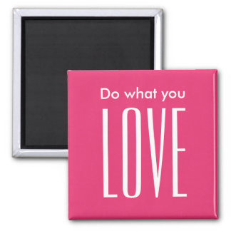 Motivational quote modern bold pink trendy magnet