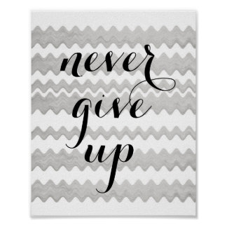 motivational quote poster never give up text