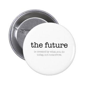 Motivational quote: 'The future' 6 Cm Round Badge