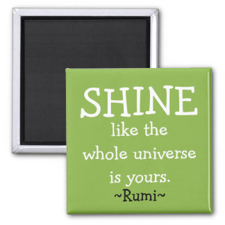 Motivational Rumi Quote Square Magnet