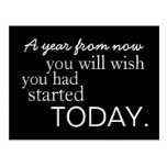 Motivational Start Today Postcard