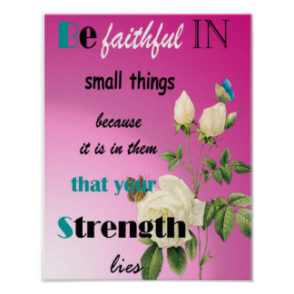 Motivational strength quotes poster