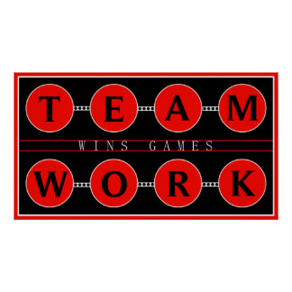 Motivational Teamwork Wins Games Poster