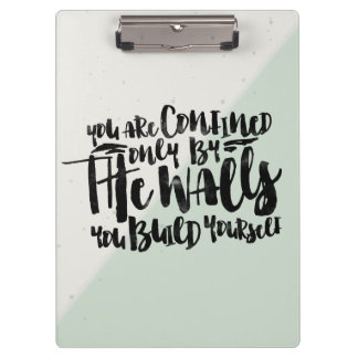 Motivational typography quote watercolor - mint | clipboards