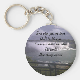 motivational upliftment key ring