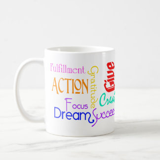 Motivational Word Collage Mug