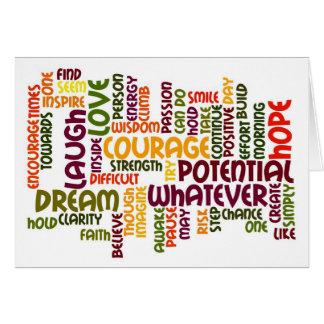 Motivational Words #1 Card