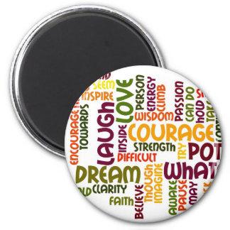 Motivational Words #1 fridge magnet