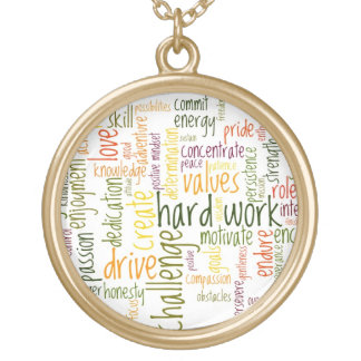 Motivational Words #2 positive encouragement Gold Plated Necklace