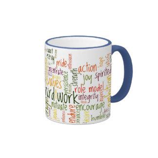Motivational Words #2 Positivity at each look Ringer Mug