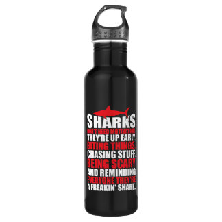 Motivational Words - Be A Shark 710 Ml Water Bottle