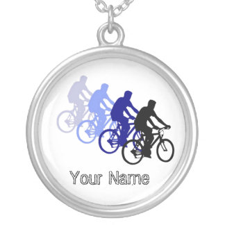 Motivational Words, Biking, Cycling, Bike Round Pendant Necklace