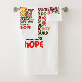 Motivational Words for positive encouragement Bath Towel Set