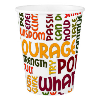 Motivational Words for positivity and motivation Paper Cup