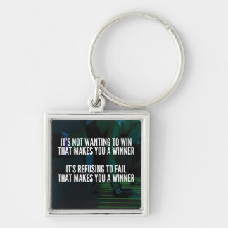 Motivational Words - Refuse To Fail - Workout Key Ring