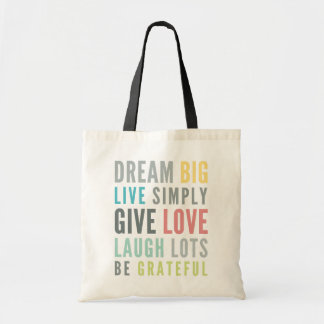 MOTIVATIONAL WORDS TO LOVE BY modern typography Tote Bag