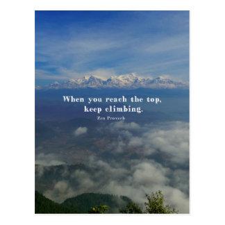 Motivational Zen Proverb about Challenges Postcard