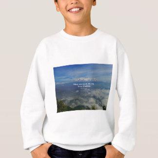 Motivational Zen Proverb about Challenges Sweatshirt