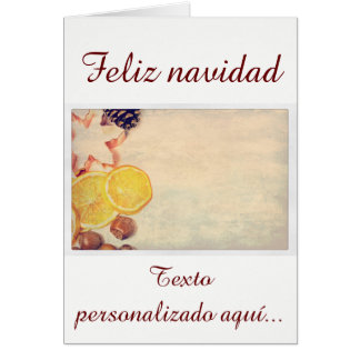 Motive for Christmas with fruits… Card