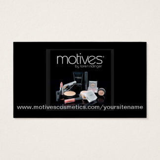 Motives® Cosmetics Distributor Business Card