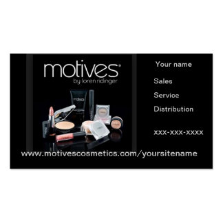 Motives Distributor business card with appointment
