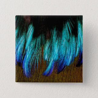 Motmot Feather Abstract 15 Cm Square Badge