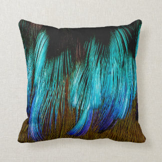 Motmot Feather Abstract Cushion