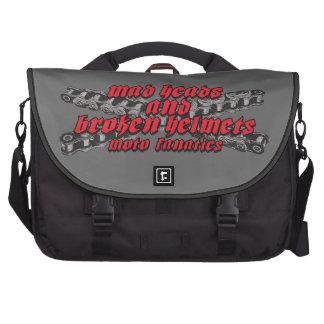 Moto madness laptop messenger bag