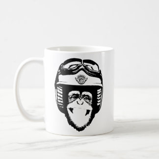 Moto Monkey Head Mug