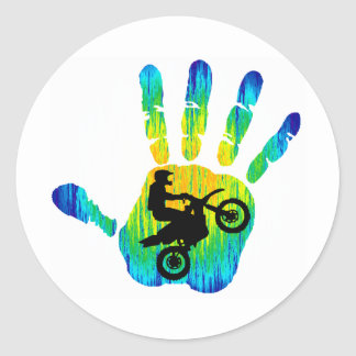 Moto Strong Vibes Round Stickers
