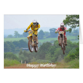 Moto X Birthday Card Motocross