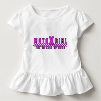 Moto x Girl Try to Keep up Boys Toddler T-Shirt