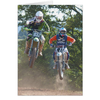 Moto X Greetings Card motocross